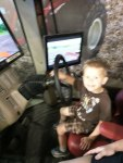 Driving the tractor simulator - by Mike W.